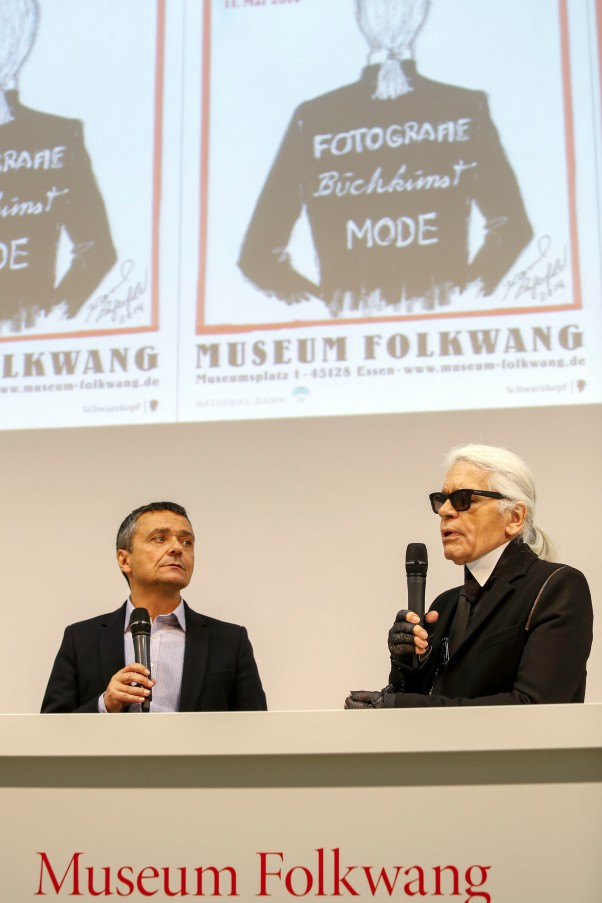 Tobia Bezzola und Karl Lagerfeld © Michael Kneffel