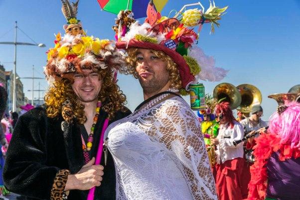 wilde Kerle beim Karneval in Dünkirchen © Michael Kneffel