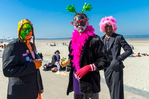 Karneval am Strand in Dünkirchen © Michael Kneffel