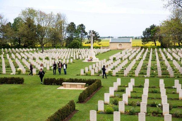 der kanadische Soldatenfriedhof in Beny-sur-Mer © Michael Kneffel