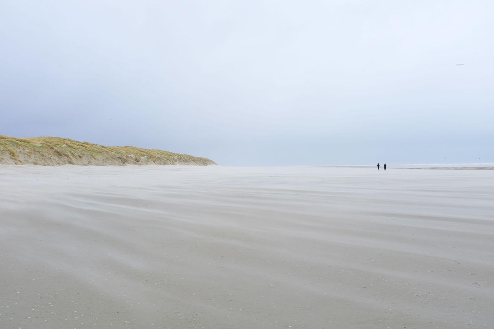 Sand fliegt über den Strand © Michael Kneffel